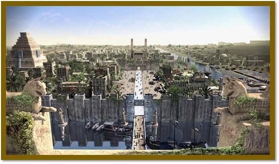 Toegang tot de stad Nieuw Babylon gedurende het Perzisch Achaemenidisch tijdperk