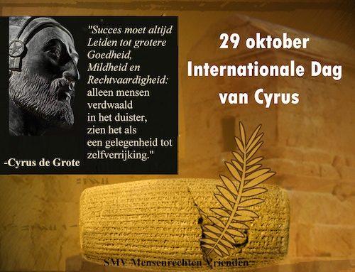 29 oktober: Internationale Dag van Cyrus