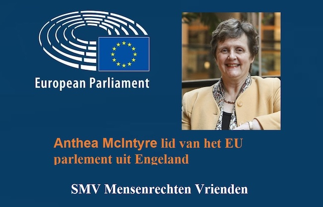 Anthea McIntyre lid van het EU parlement uit Engeland