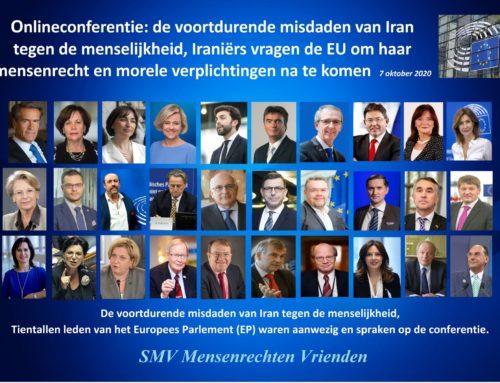 Onlineconferentie: de voortdurende misdaden van Iran tegen de menselijkheid, Iraniërs vragen de EU om haar mensenrecht  en morele verplichtingen na te komen