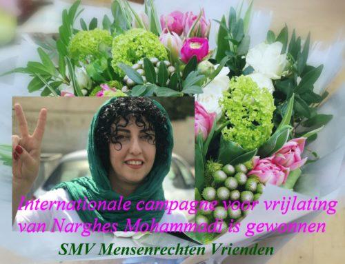 Internationale campagne voor vrijlating van Narghes Mohammadi is gewonnen