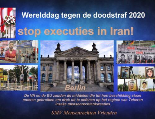 Werelddag tegen de doodstraf 2020 – Protestbijeenkomst in Berlijn: stop executies in Iran!