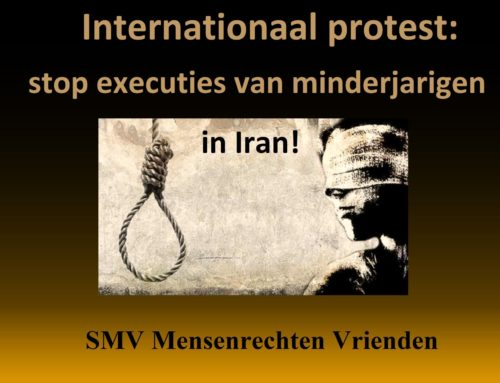 Internationaal protest: stop executies van minderjarigen in Iran!
