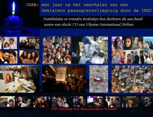 Familieleden en vrienden herdenken hun dierbaren die aan boord waren van vlucht 752 van Ukraine International Airlines