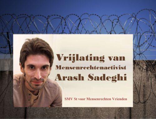 Vrijlating van mensenrechtenactivist Arash Sadegh