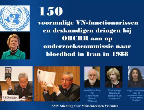 150 voormalige VN-functionarissen en deskundigen dringen bij OHCHR aan op onderzoekscommissie naar bloedbad in Iran in 1988