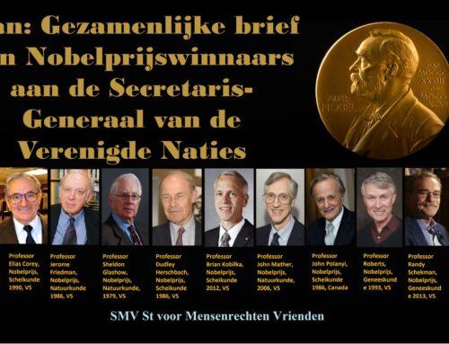 Iran: Gezamenlijke brief van Nobelprijswinnaars aan de Secretaris-Generaal van de Verenigde Naties