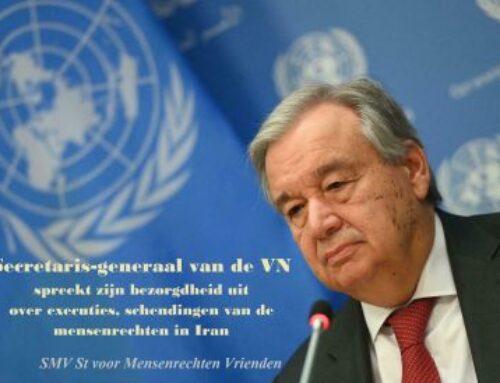 Secretaris-generaal van de VN spreekt zijn bezorgdheid uit over executies, schendingen van de mensenrechten in Iran