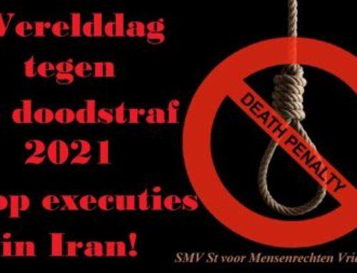 Werelddag tegen de doodstraf 2021 – Stop executies in Iran!