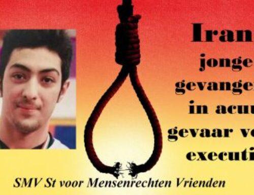 Iran: Jonge gevangene in acuut gevaar voor executie